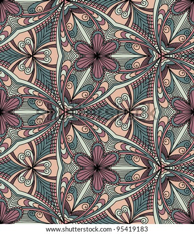 Vector seamless colorful decorative background. Kaleidoscope
