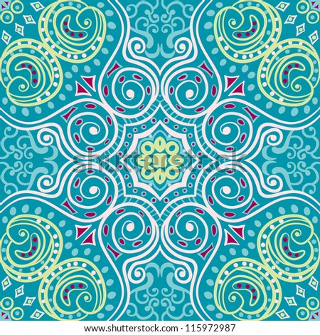 vector seamless colorful floral pattern background