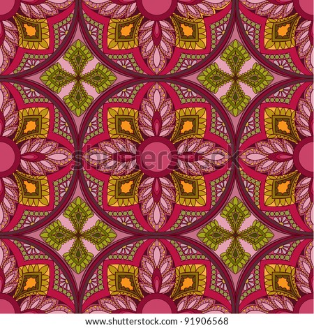Vector seamless colorful vintage background