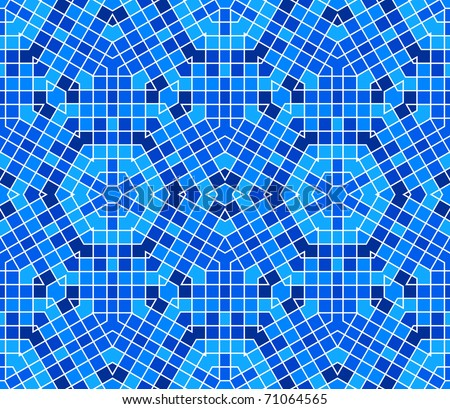 Vector seamless colourful ornamental background made of mosaic