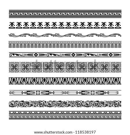 Vector Seamless Decorative Borders #118538197