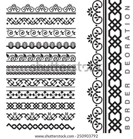 Vector Seamless Decorative Borders #250903792