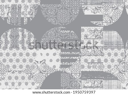 Vector Seamless Decorative Ethnic luxury Kilim seam pattern. Native japan floral and geo Motifs. Background with Tribal Ornament,  Print for fashion, textile, paper and cover. Hand drawn illustration