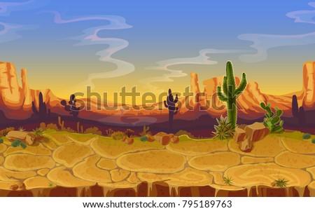 vector seamless desert