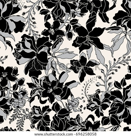 vector seamless dry floral