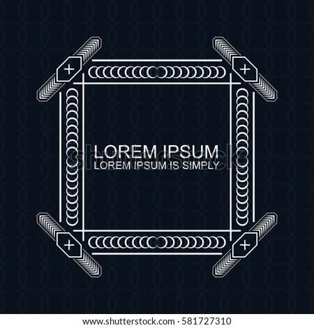 Vector seamless elegant pattern for package or textile design. Black seamless background with vintage golden ornate frame. Especially for restaurant menu, wedding invitation, logo, banner.