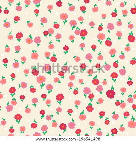 vector seamless fantasy daisy flower print