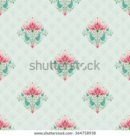 vector seamless fantasy floral