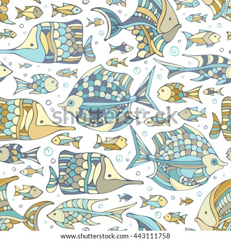 vector seamless fish pattern