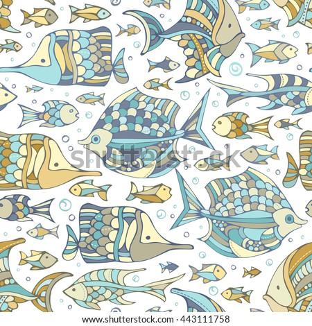 vector seamless fish pattern