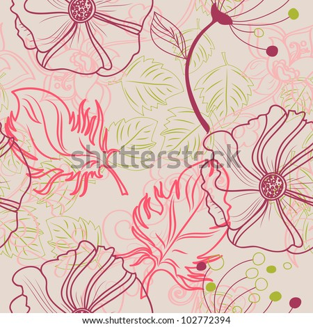 vector seamless floral beautiful texture