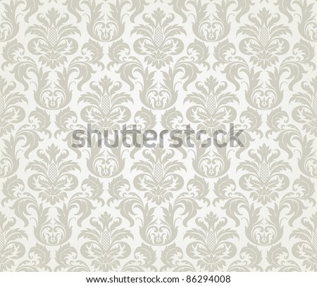 stock vector Vector seamless floral damask pattern for wedding invitation