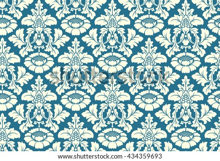 Free damask vector pattern 2 - Download Free Vector Art, Stock ...