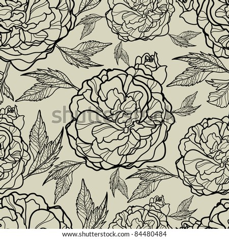 "Vector seamless floral pattern (from my big ""Floral collection"")"