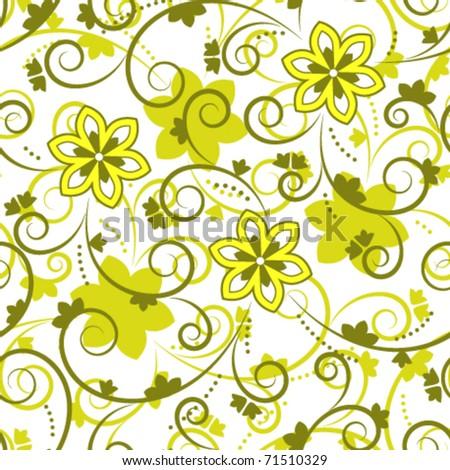 vector seamless floral texture