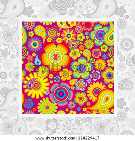 Vector seamless - flower pattern