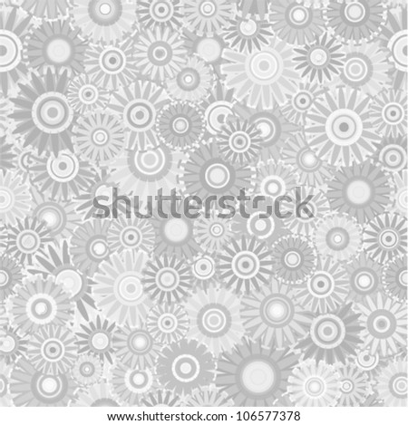 Vector seamless - flower pattern (silver floral background)