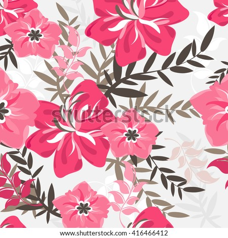 vector seamless flowers and