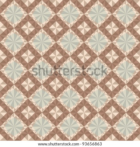 vector seamless geometric pattern in brown and gray colors