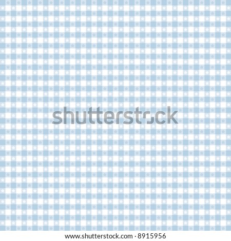 vector, Seamless Gingham Pattern in pastel blue & white for sewing, decorating, backgrounds. EPS8 file includes pattern swatch that will seamlessly fill any shape.