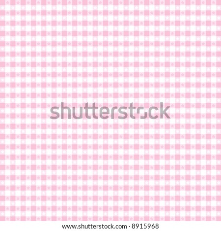 vector, Seamless Gingham Pattern in pastel pink and white for sewing, decorating, backgrounds. EPS8 file includes pattern swatch that seamlessly fills any shape.