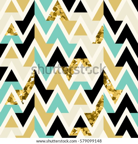 vector seamless gold  black and