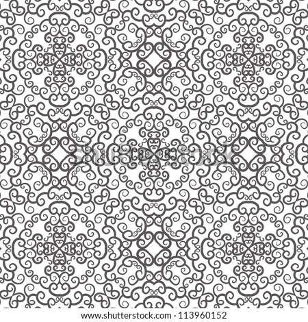 vector seamless gray floral pattern background