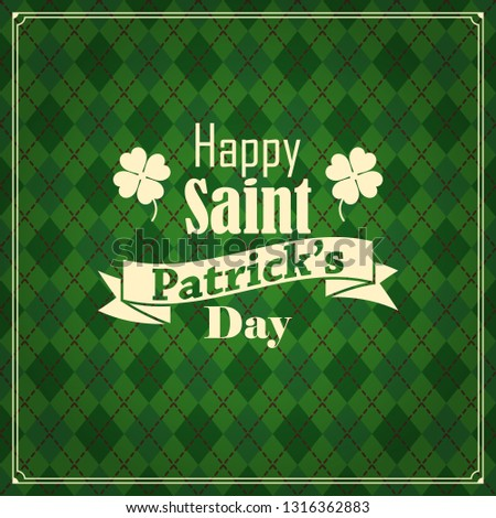 vector seamless green background for Saint Patrick's day