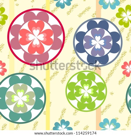 vector seamless grunge flowers