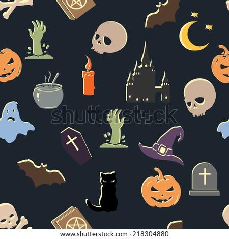 Vector Seamless Halloween Pattern