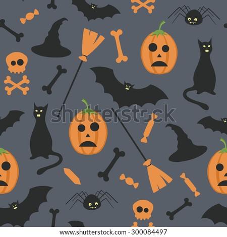 vector seamless halloween