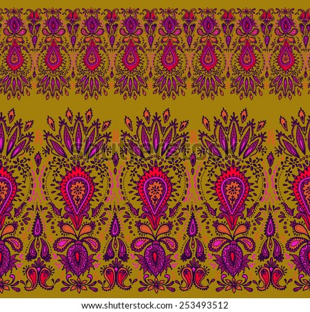 Free Paisley Border Vector Download Free Vector Art Stock