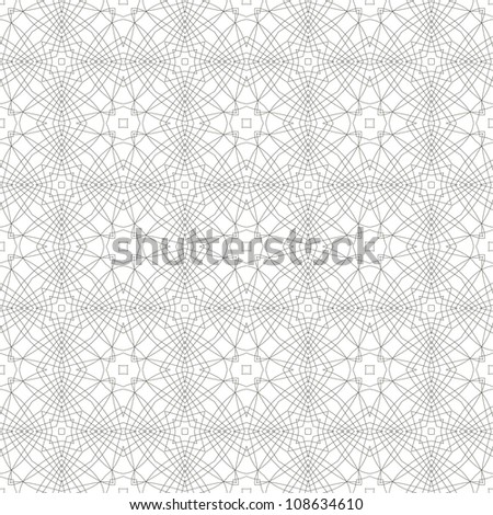Vector seamless illustration of tangier grid, abstract guilloche background