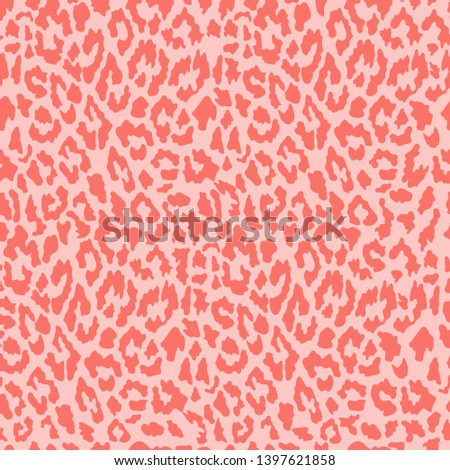 Vector seamless leopard pattern. Trendy background. Template for design, fabric, print.