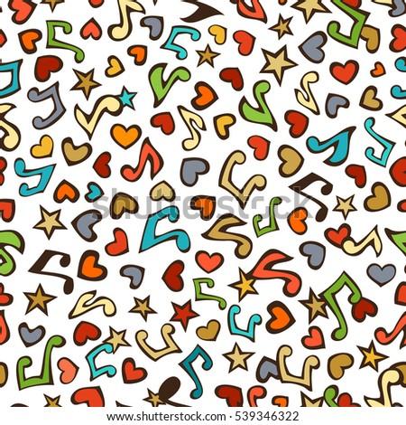 vector seamless love music
