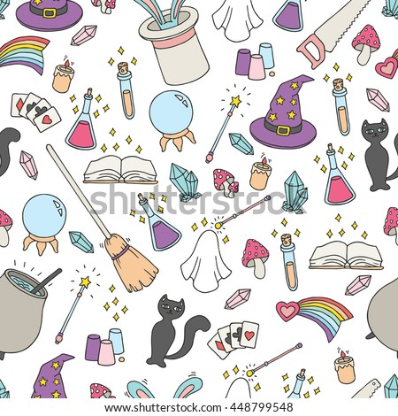 vector seamless magic pattern