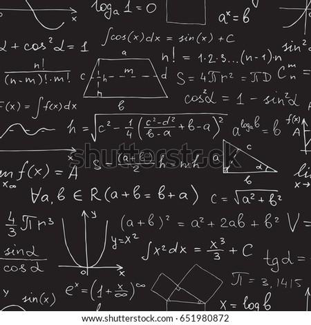 vector seamless math pattern....