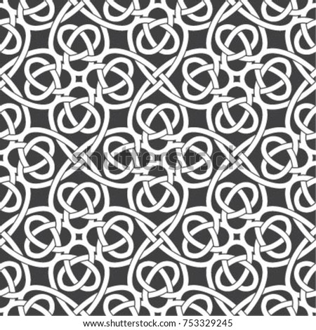 Vector seamless models. Modern texture from regularly repeating geometrical elements. Monochrome, linear, simple. Wall-paper for the press. Vector illustrations.