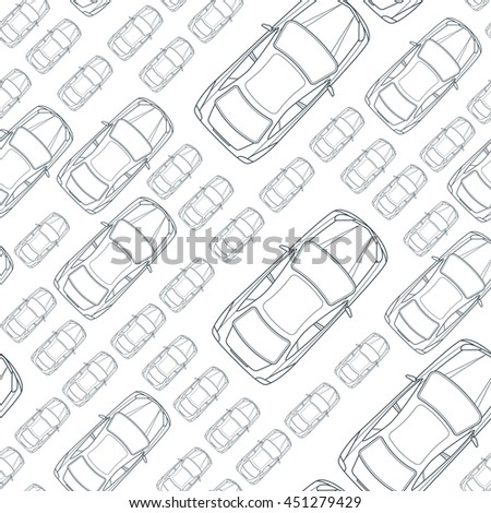vector seamless monochrome