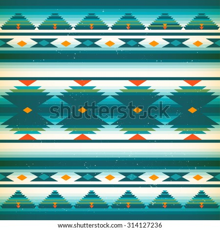 Vector seamless native american pattern. American Indians background. Ethnic textile decorative ornamental striped. Vintage texture with traditional indigenous icon.