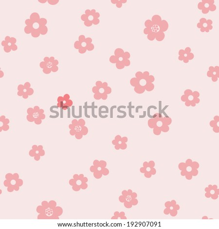 vector seamless neat flower print