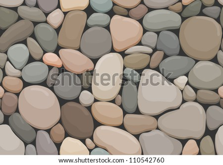 vector seamless offset pattern with pebbles