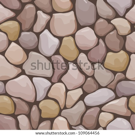 vector seamless offset pattern with stones and dark mortar