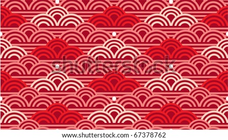 Vector Seamless Oriental Waves Tile (background texture wallpaper)