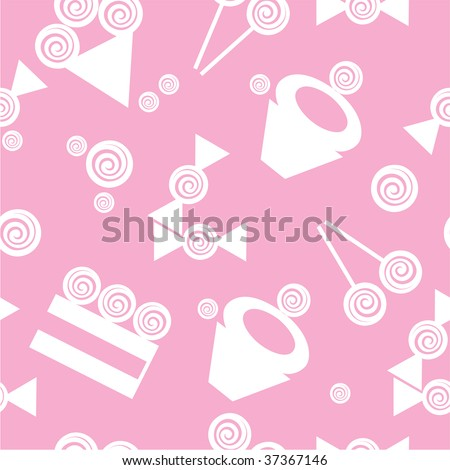 Vector. Seamless ornament with cake in color  16. More seamless see in portfolio
