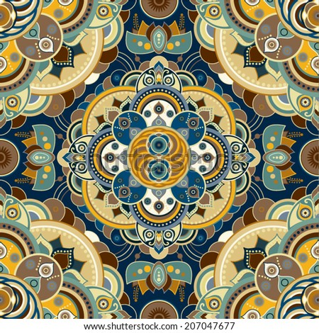 Vector seamless ornamental pattern in ethnic style