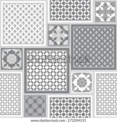 vector seamless patchy pattern