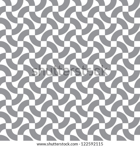Vector seamless pattern - abstract curved lines - stock vector