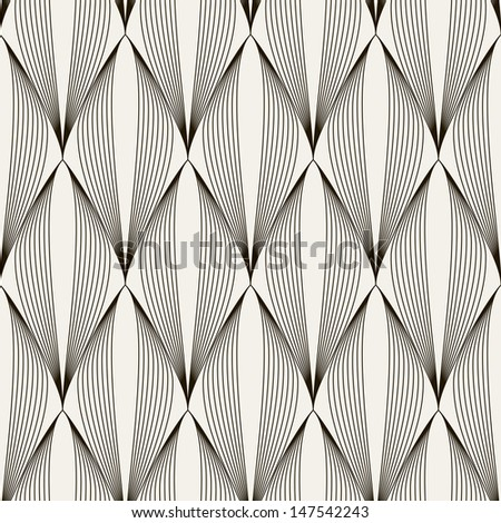 Vector seamless pattern. Abstract stylish background with stylized petals