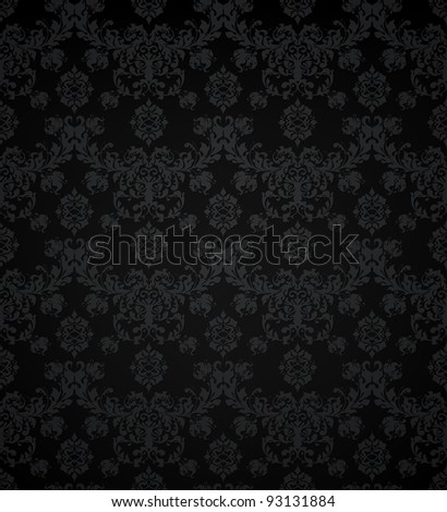 Vector seamless pattern, black